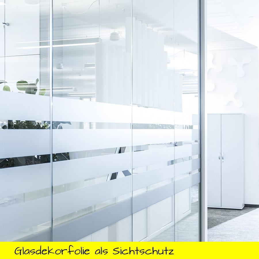 Glasdekorfolie als Sichtschutz