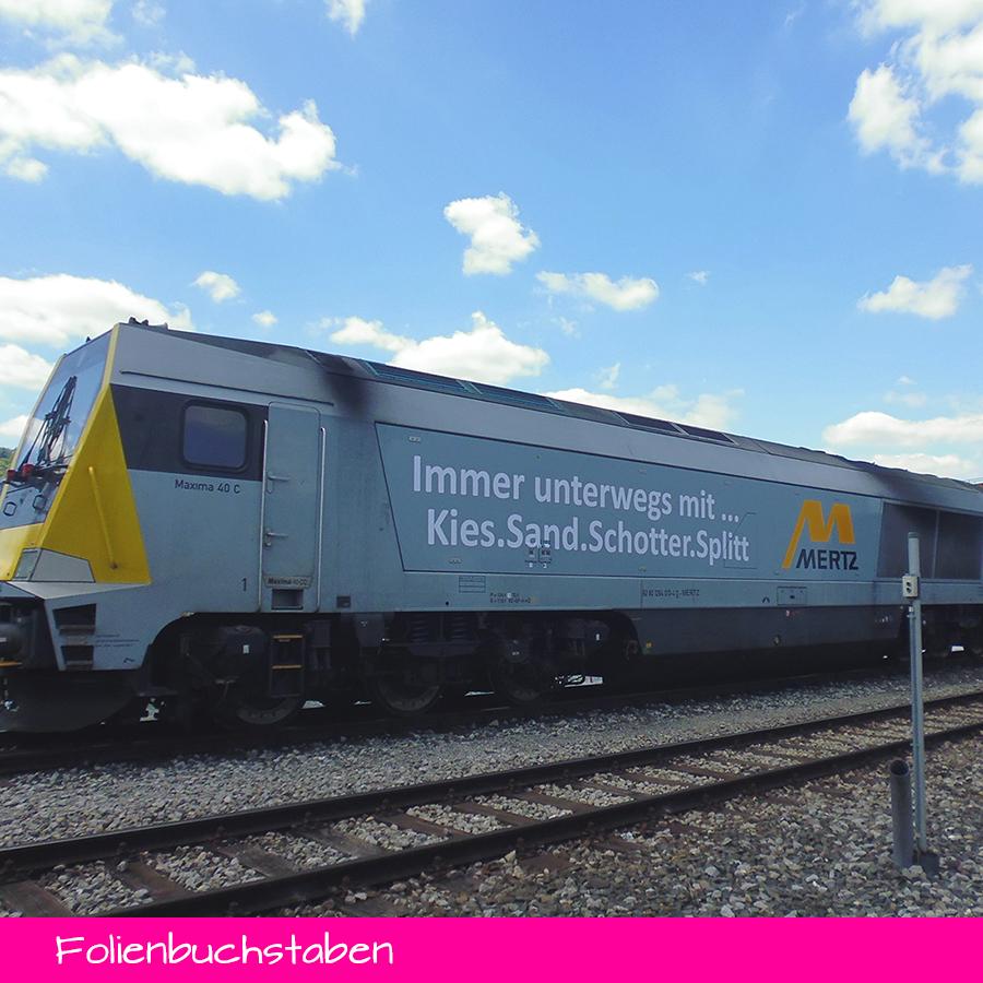 Folienbuchstaben - Lokomotive