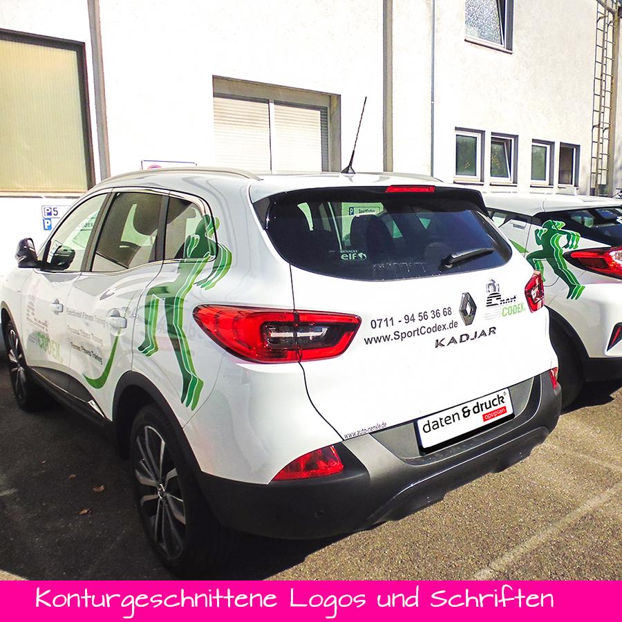 Konturgeschnittene Schriften und Logos - Fahrzeug