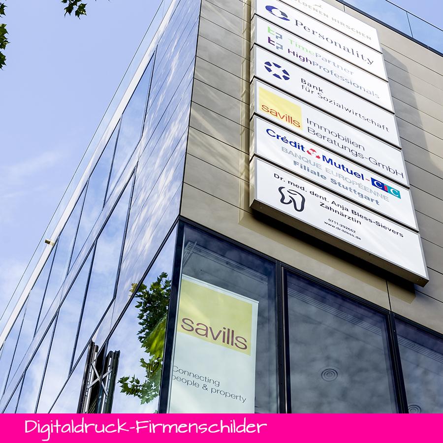 Digitaldruck-Firmenschild