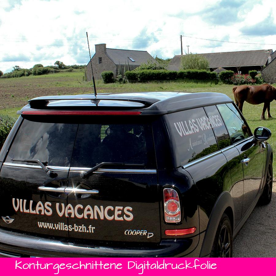 Konturgeschnittene Digitaldruckfolie - Fahrzeug